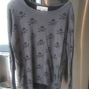 Skulls sweater large vintage havana